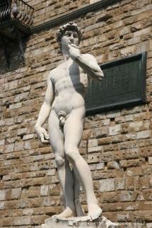 Copie du David de Michelange, Piazza della Signoria, Florence