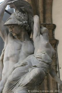 L'enlèvement des Sabines de Jean de Bologne, Piazza della Signoria