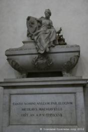 Tombe de Machiavel, Santa Croce, Florence