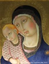 Montepulciano, duomo. Madonna col bambino de Pietro da Siena