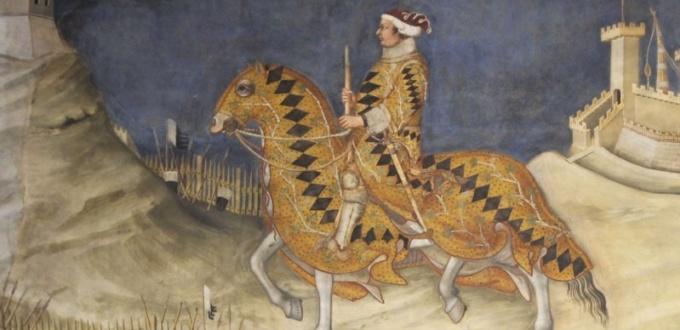 Guido Riccio da Fogliano all assedio di Montemassi, sala del mappamondo, museo civico