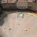 Piazza del Campo vue depuis la tour della Mangia